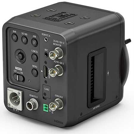 A Canon ME20F-SH videokamera hátsó csatlakozói