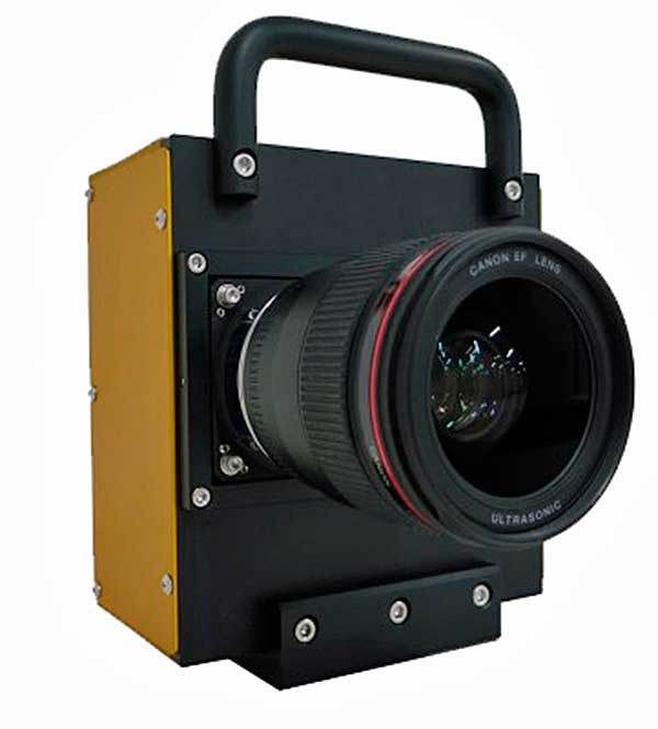A Canon által bemutatott új APS-H méretű CMOS képérzékelő teszteléséhez használt fényképezőgép prototípus
