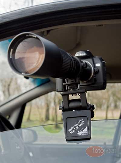 Autós ablaküvegre rögzíthető könnyű, kicsi fotós állvány