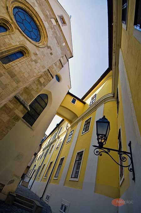 Nagylátószögű objektív Pannonhalmi Apátság épületei