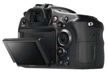 Sony α68 digitális fényképezőgép kihajtható LCD monitor