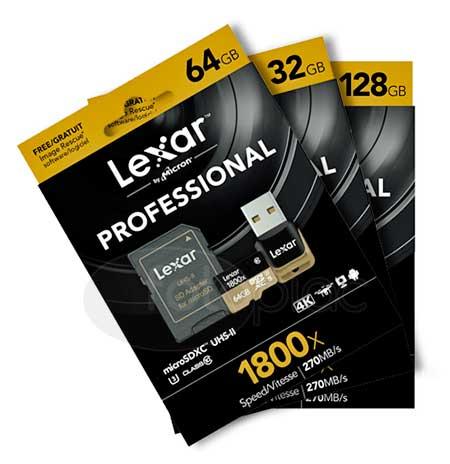 Lexar Professional 1800x microSD UHS-II memóriakártya