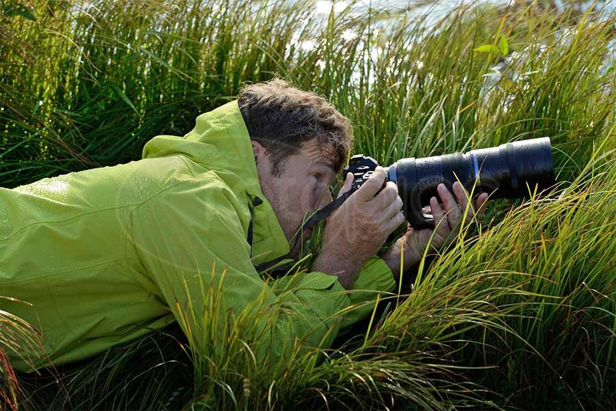 Olympus M.Zuiko Digital ED 300 mm F:4,0 IS PRO teleobjektív használat közben