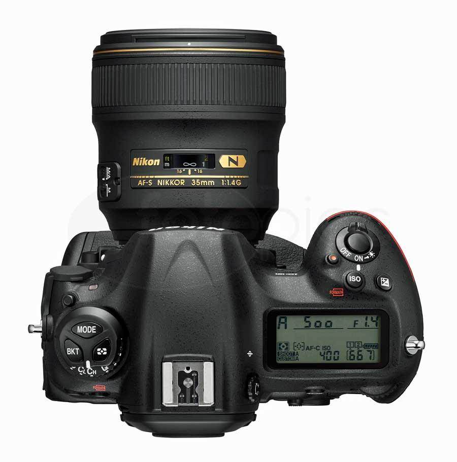 Nikon D5 digitális professzionális DSLR fényképezőgép felülről