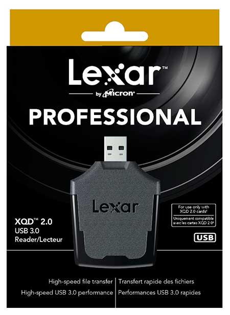 Lexar Professional XQD 2.0 USB 3.0 kártyaolvasó memóriakártyához, dobozban