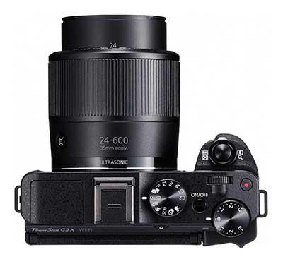Canon G3 X prémium kompakt digitális fényképezőgép felülről