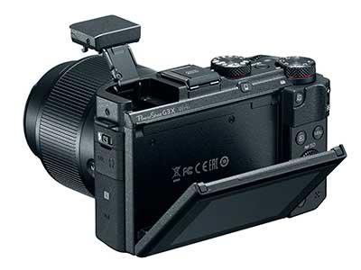 Canon G3 X prémium kompakt digitális fényképezőgép hátulról