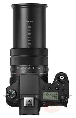 Sony RX10 III digitális fényképezőgép fentről