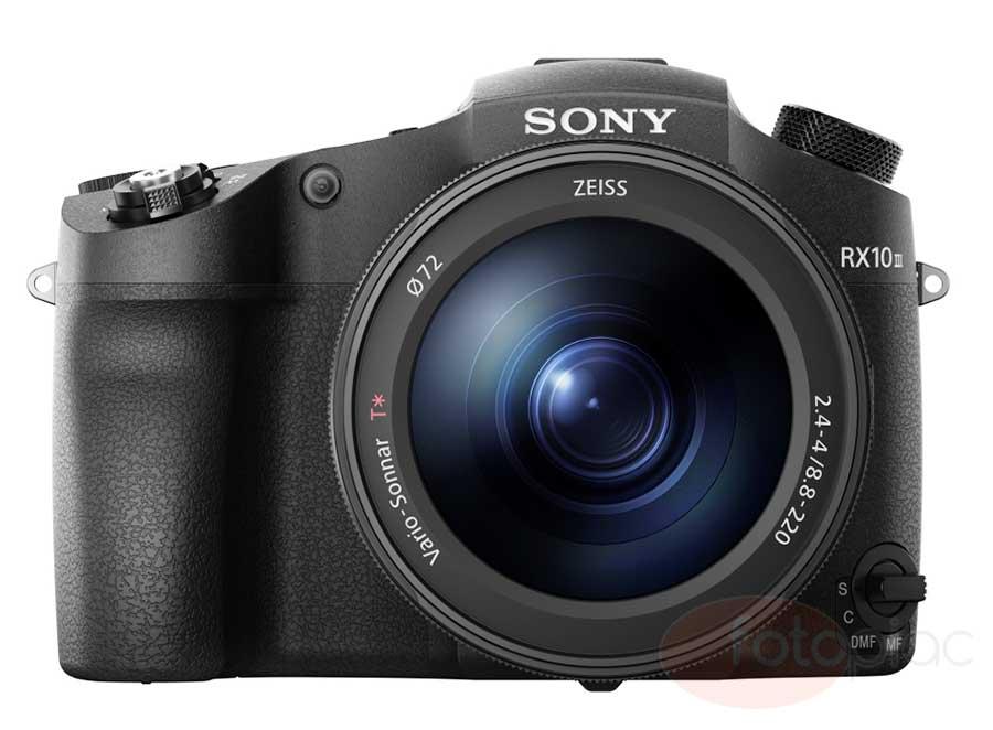 Sony RX10 III digitális fényképezőgép szemből